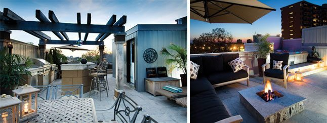 On Top of the World: a rooftop oasis on a loft townhouse