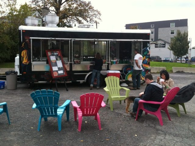 FOOD BUZZ: Pedestrian snacking on Scott Street ushers us into the world of better food truck fare