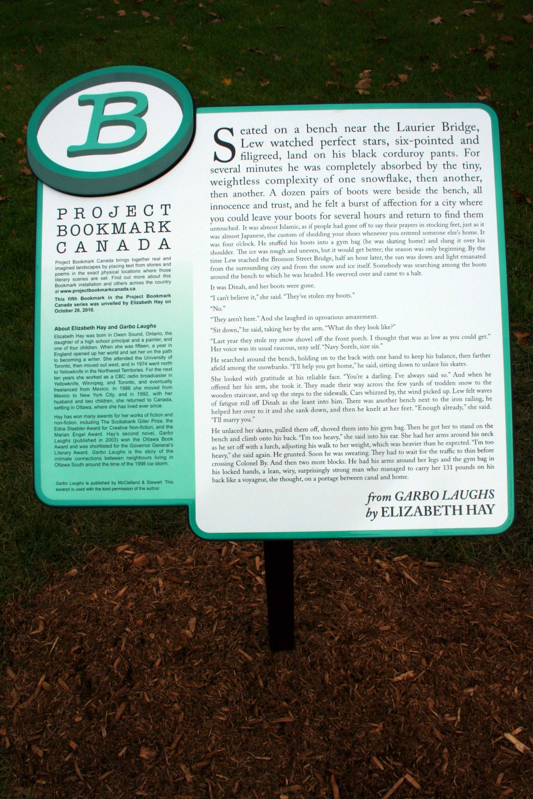URBAN DECODER: I was walking over the Bronson Bridge and I noticed two new plaques near the canal. What are they for?
