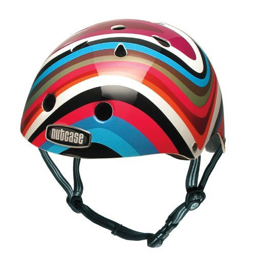 Stylish colour-swirls helmet from Nutcase