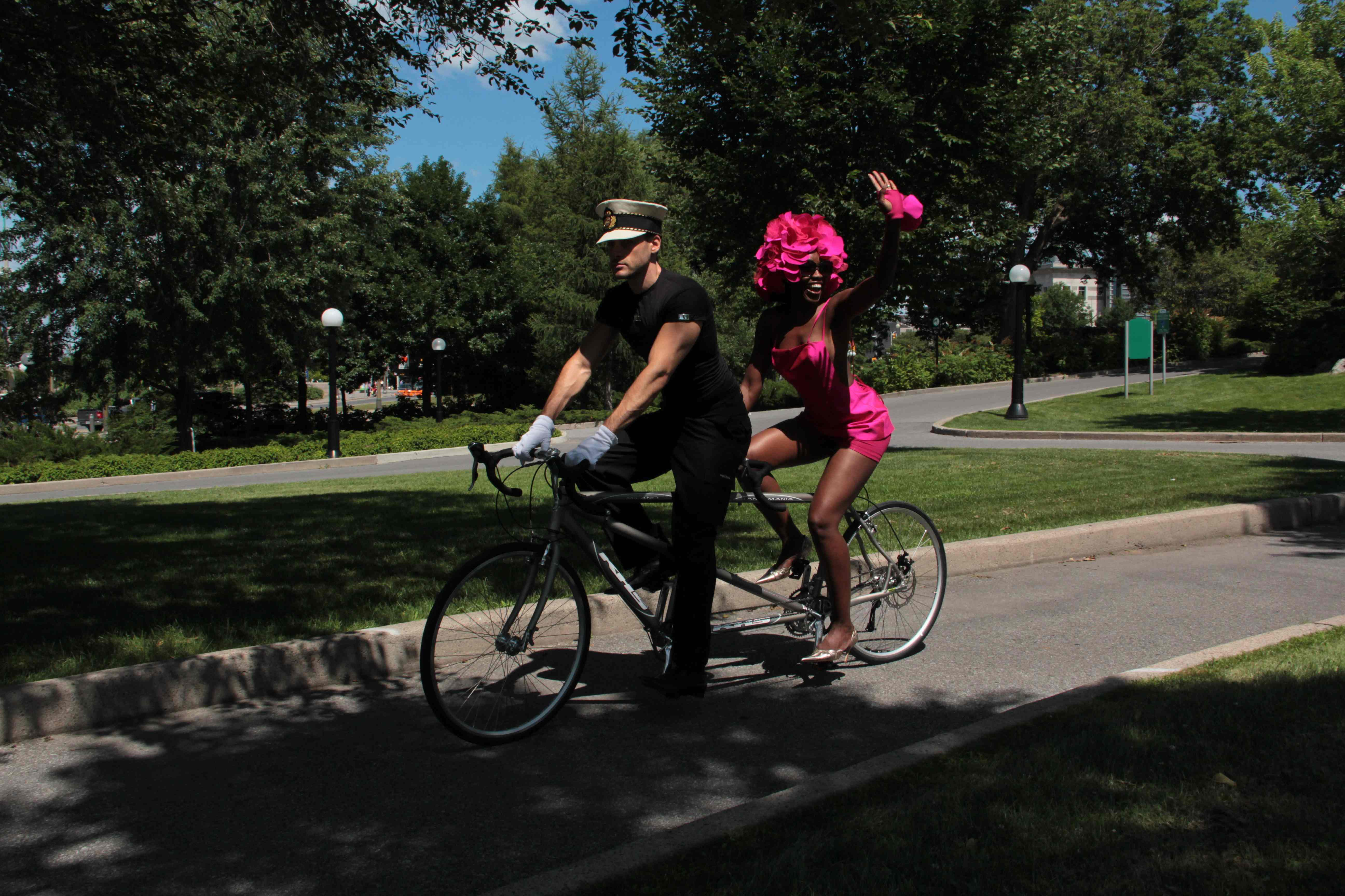 "ARTFUL BLOGGER: Richard Robinson tackles ""bicycle chic"" with a duo of July 31 fashion shows in Confederation Park"