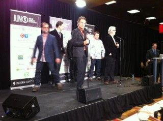 "Fateema Tweets: Blue Rodeo back stage. ""When we first came to Ottawa, we played The Rainbow...."""