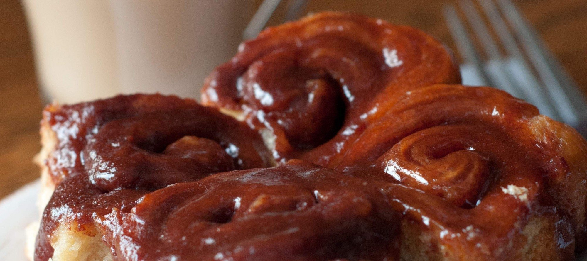 STICKY BUN OF THE DAY! Gooey organic goodness from Cinnamon Sentiments