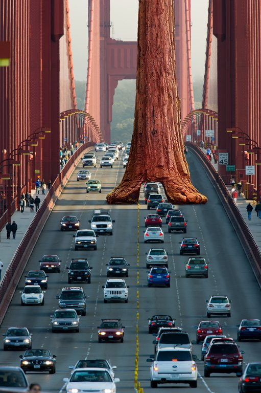 THE ARTFUL BLOGGER: Only a Canadian artist would paint the Golden Gate Bridge green