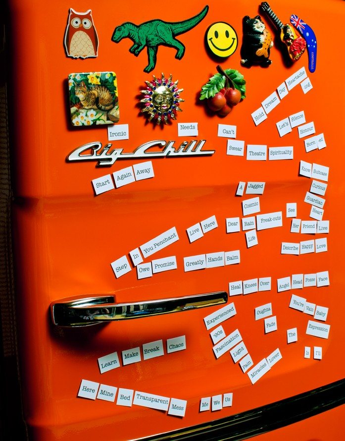 THANK YOU, DISILLUSIONMENT: Fridge magnet poetry to honour today's release of Alanis Morissette's Havoc and Bright Lights album