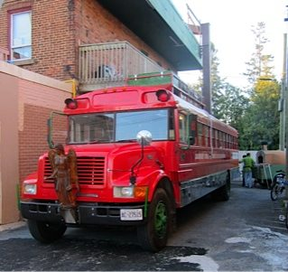 THE MAGIC SCHOOL BUS: Behind the wheel at Table 40's Stadtländer dinner