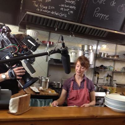 "BEHIND THE SCENES: Food Network's ""You Gotta Eat Here"" films at Edgar. Owner Marysol Foucault dishes on being a TV star for the day"