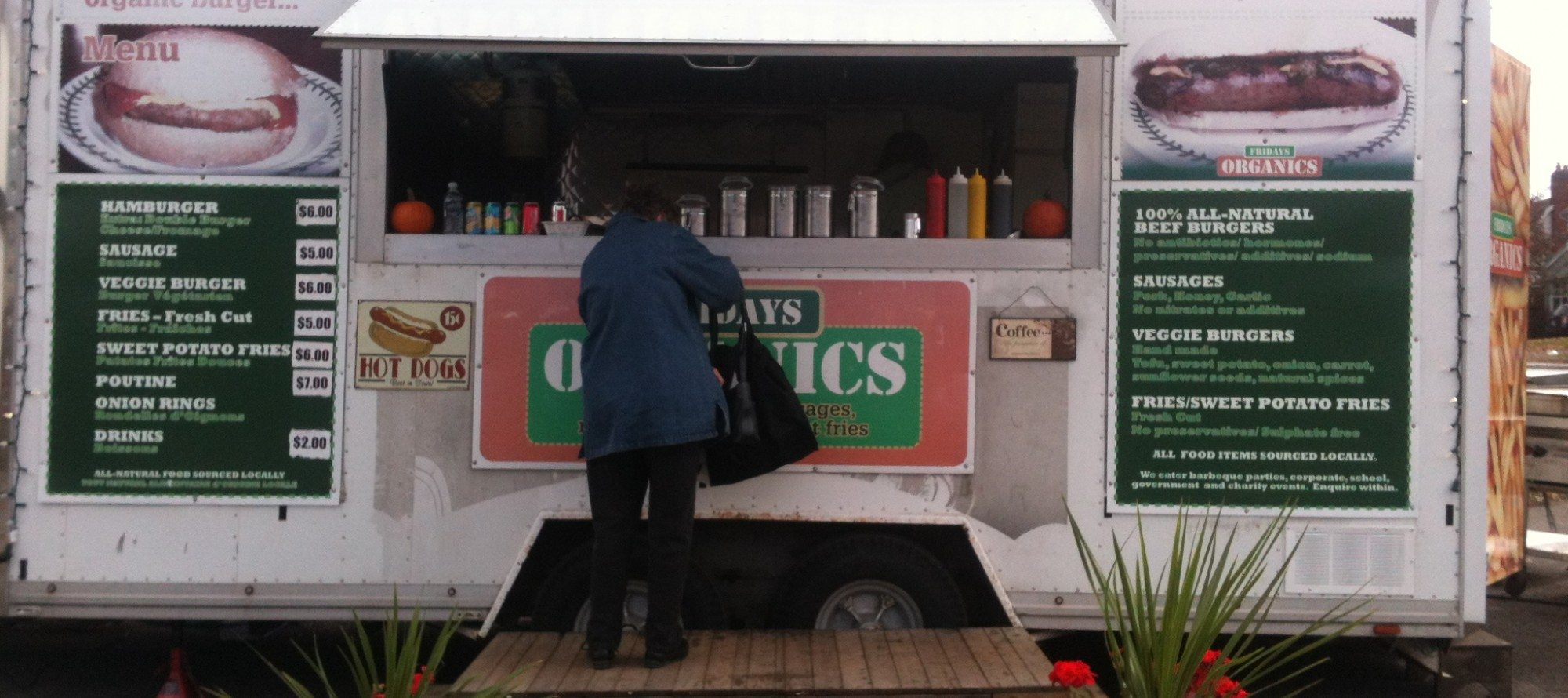 WEEKLY LUNCH PICK: Fridays Organics food trailer rolls into Westboro (and a side discussion on a City proposal for more street-food fare)
