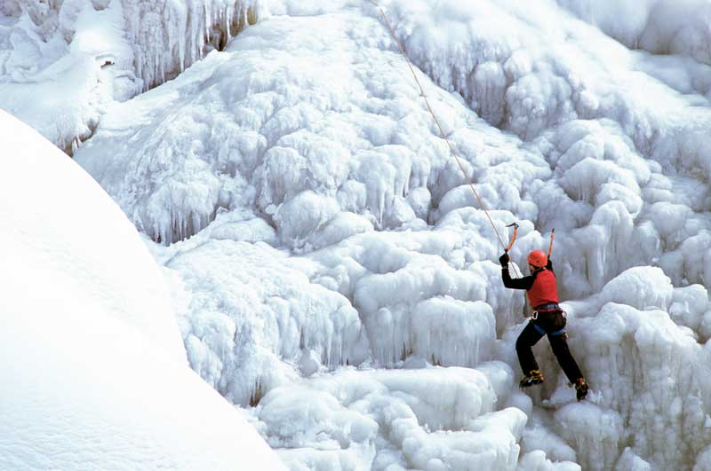 THE ALLURE OF ICE: An exploration into ice climbing — and how to take up this adrenalin-fuelled sport