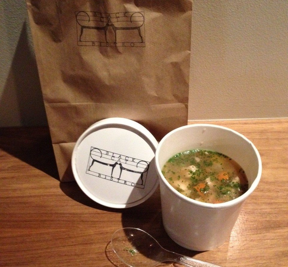 "SOUP'S ON! Black Cat Bistro test drives its new ""Black Cat Luncheonette"" Friday take-away lunch — starts today"