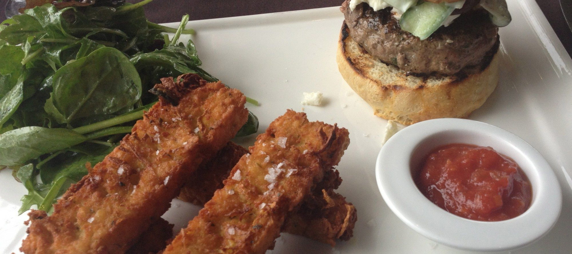 WEEKLY LUNCH PICK: Lamb burger with chickpea fries and trout two ways at Juniper