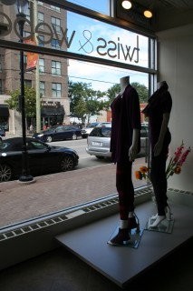 The Twiss & Weber store is clean, modern, and funky-fun!