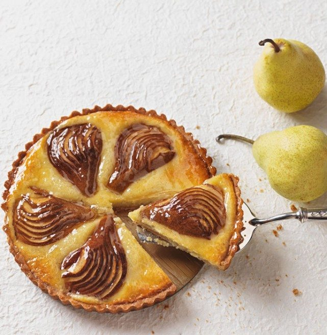 The pear tartlet from Benny's Bistro features roasted sliced pear and frangipani filling. Photo by Photoluxstudio.com - Alex Deszcz.