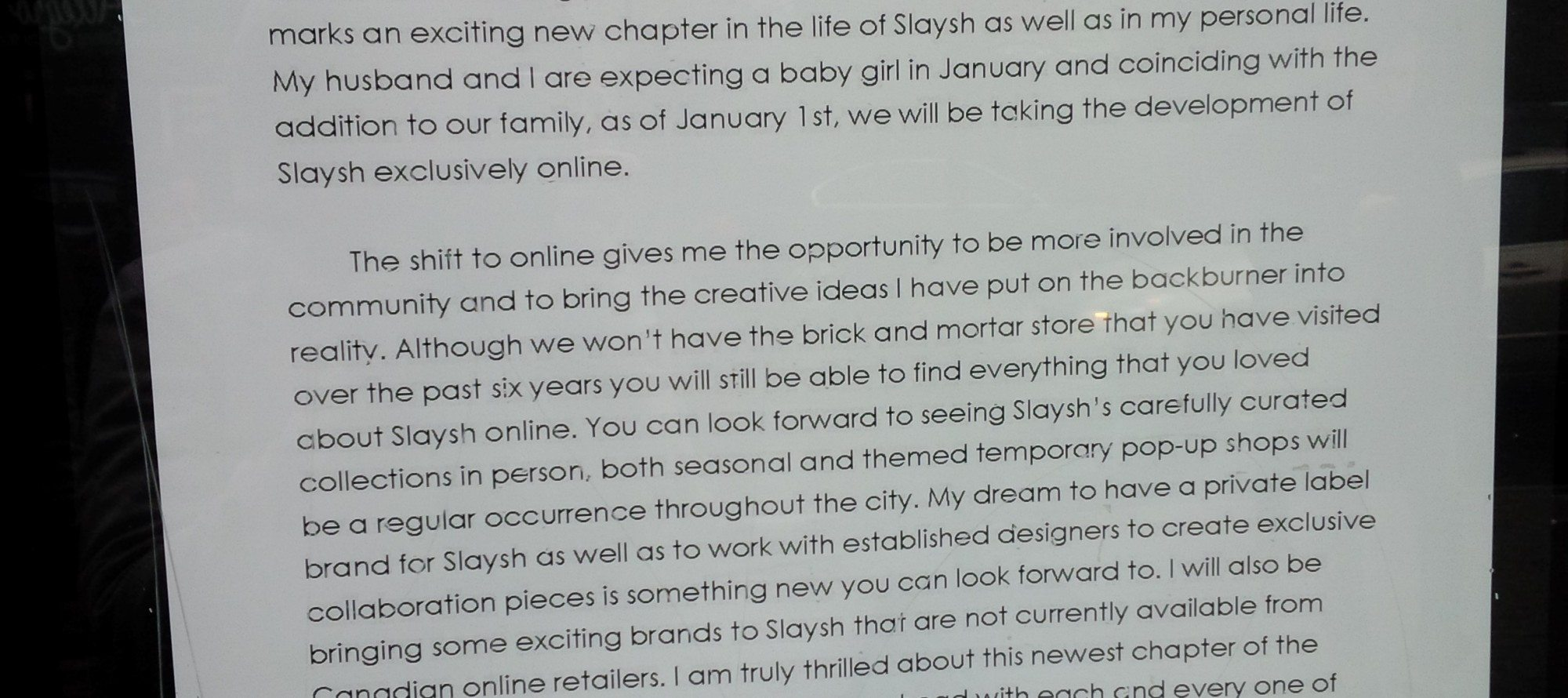 SHOP TALK: Slaysh heads online, Virani moves in to Wellie West boutique