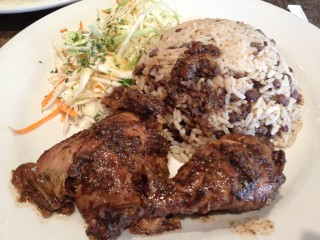 Jerk chicken from Mugena. Photo by Anne DesBrisay