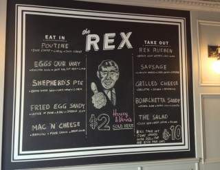 The Rex has a retro-bistro vibe. Photo by Anne DesBrisay
