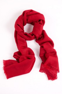 Red pashmina. $130 for 100% cashmere, $85 for cashmere/silk blend.