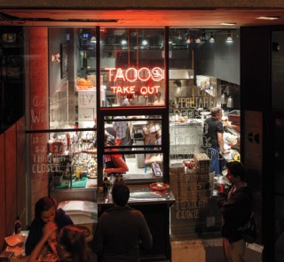 The take-out window at El Camino. Photo by Miv Fournier.