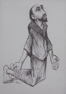 St. John the Baptist drawing by Gerald Trottier. Image courtesy Trottier family.