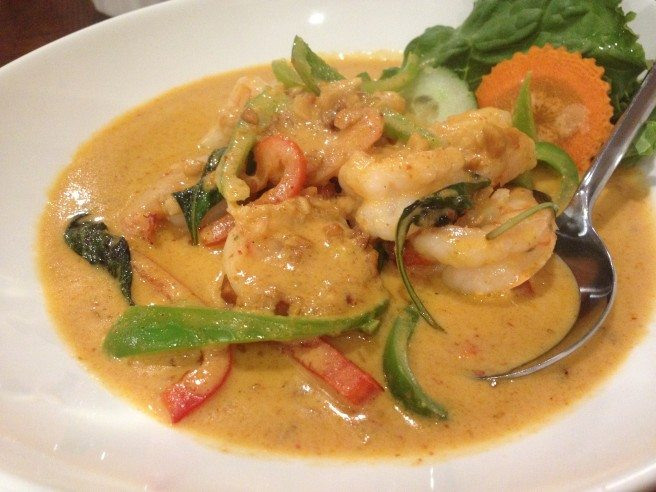 Red curry with shrimp. Photo by Anne DesBrisay.