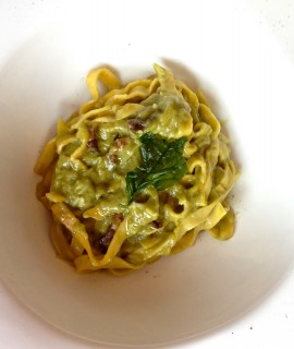 House-made fettucine. Photo by Anne DesBrisay