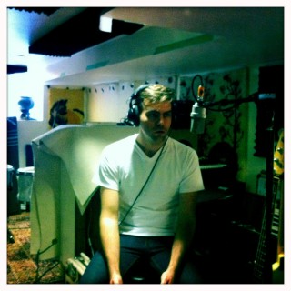 "Jon Hynes in studio making ""Watchful Creatures"""