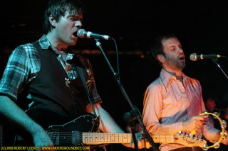 Jon Hynes with Hidden Cameras bandmate Dave Meslin in 2009