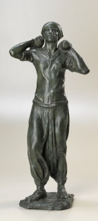 The Shell Finisher Sculpted by Frances Loring between 1918 and 1919 Beaverbrook Collection of War Art Canadian War Museum, 19710261-0414