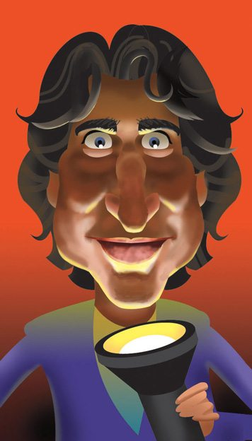 Justin Trudeau . Illustration by Alan King
