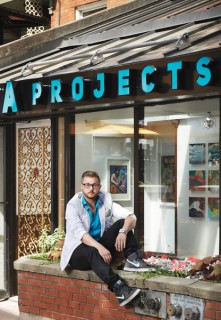 Brendan de Montigny is co-founder of PDA Projects, a new gallery on Elgin Street. Photo by Jessica Deeks