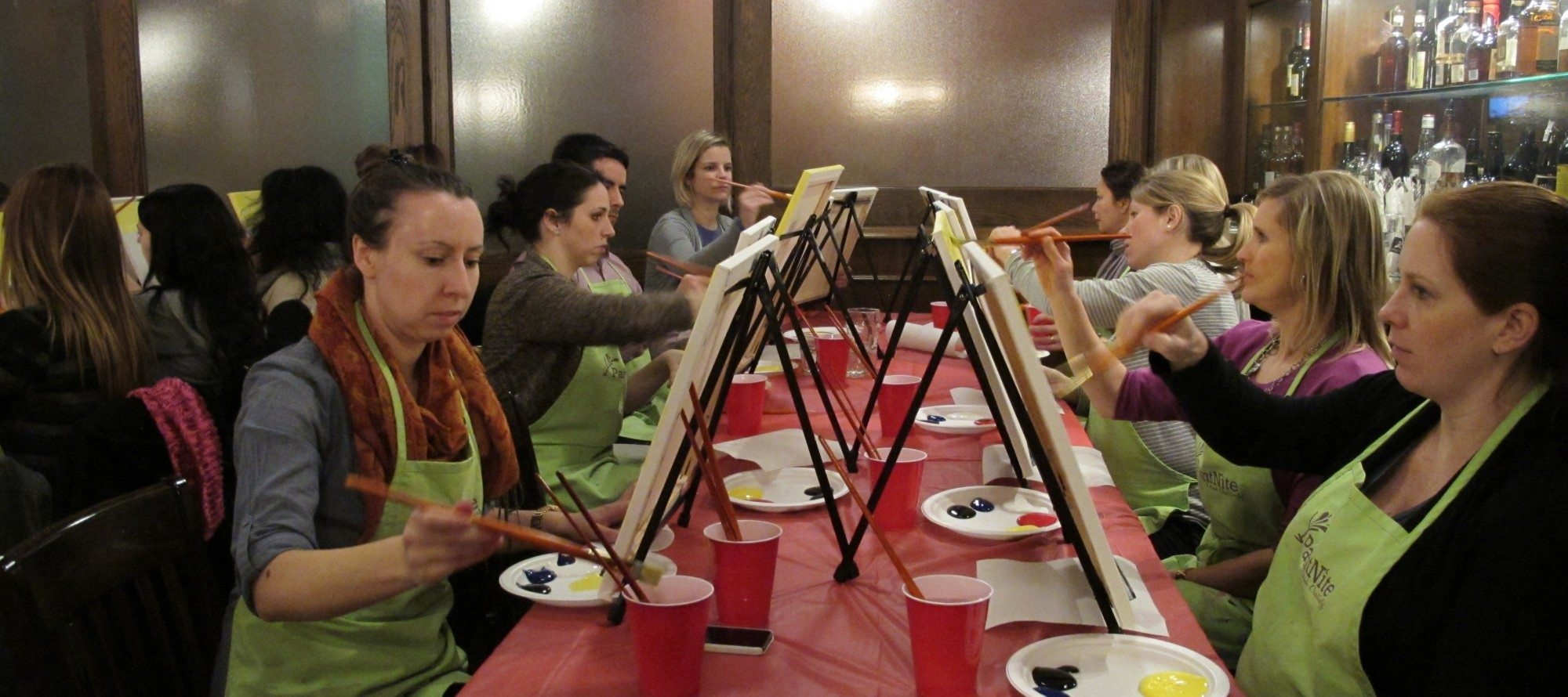 WEB EXCLUSIVE: Paint Nite brings rookie artists, friends, and couples to local pubs