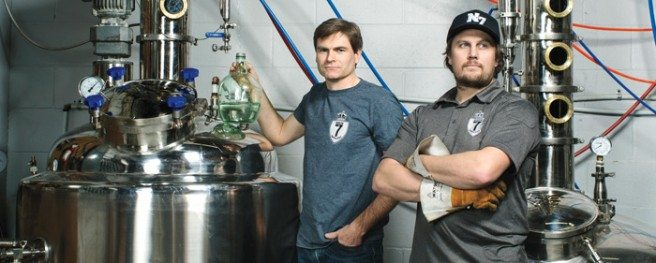 North of 7 Distillery is the city's first craft liquor operation. Photo by Jamie Kronick