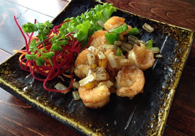 Salt and pepper shrimp from Quan Viet Fusion. Photo by Anne DesBrisay