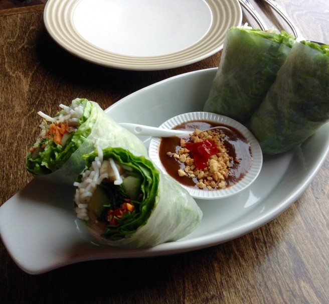 Thai rice paper rolls. Photo by Anne DesBrisay