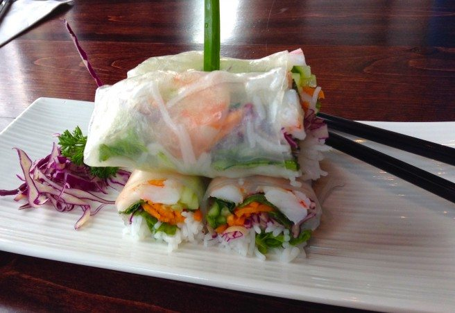 Shrimp rice rolls from Quan Viet Fusion. Photo by Anne DesBrisay