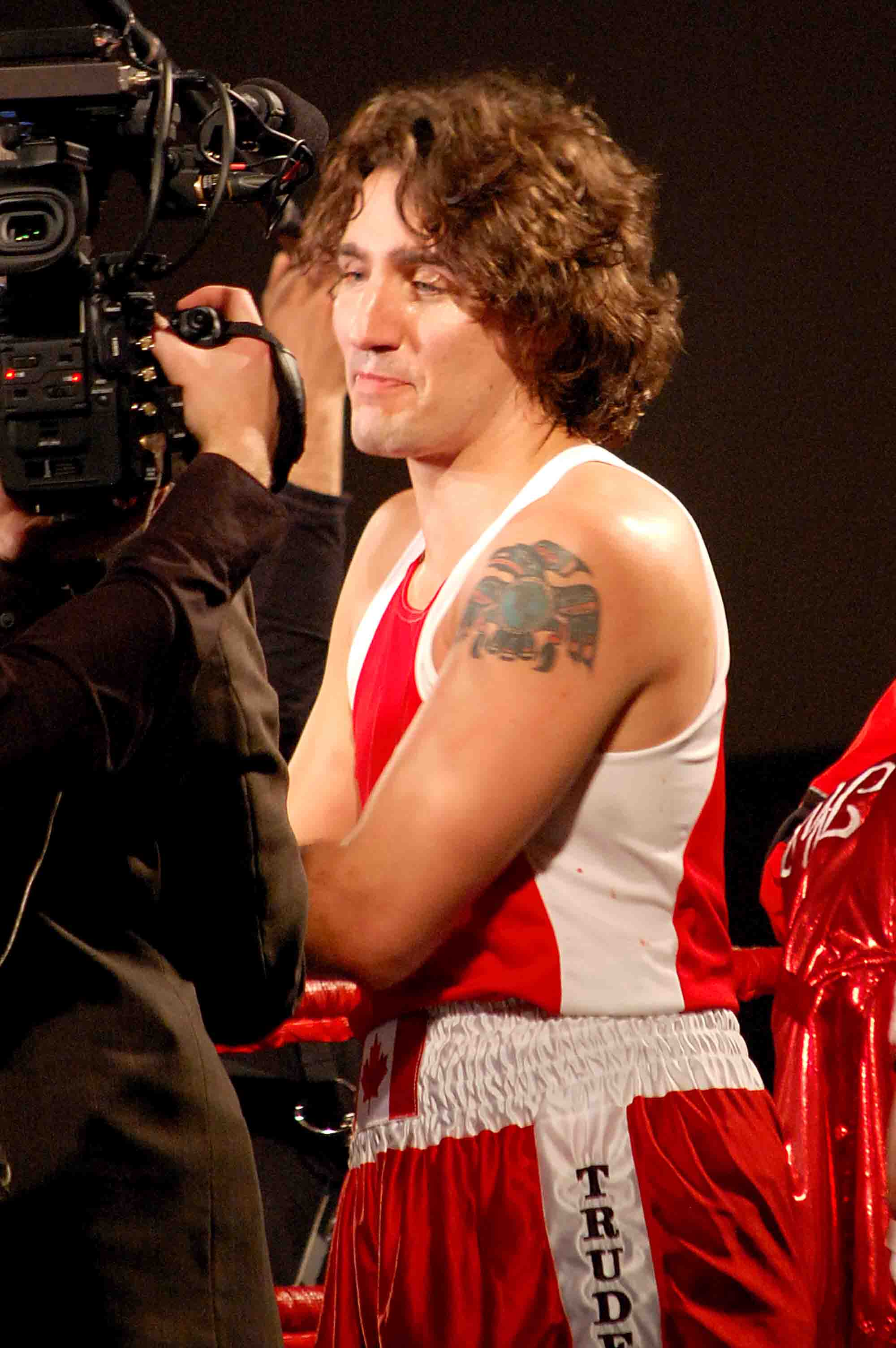 Justin Trudeau was victorious in the match against former Senator Patrick Brazeau.