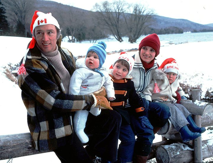 Trudeau family Christmas card...the last card before they separated...the 76 Christmas Card...left to right Pierre,Michel,Justin,Margaret and Sacha...taken at Harrington Lake, Nov 12/76....mandatory credit Photo by Rod MacIvor/Ottawa rmacivor@gmail.com