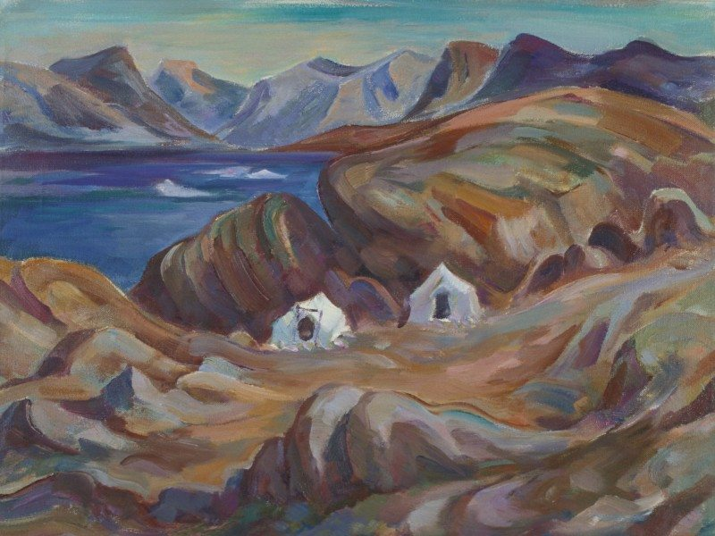 George Pepper Pangnirtung, 1960, Oil on canvas. Firestone Collection of Canadian Art, The Ottawa Art Gallery; Donated to the City of Ottawa by the Ontario Heritage Foundation.