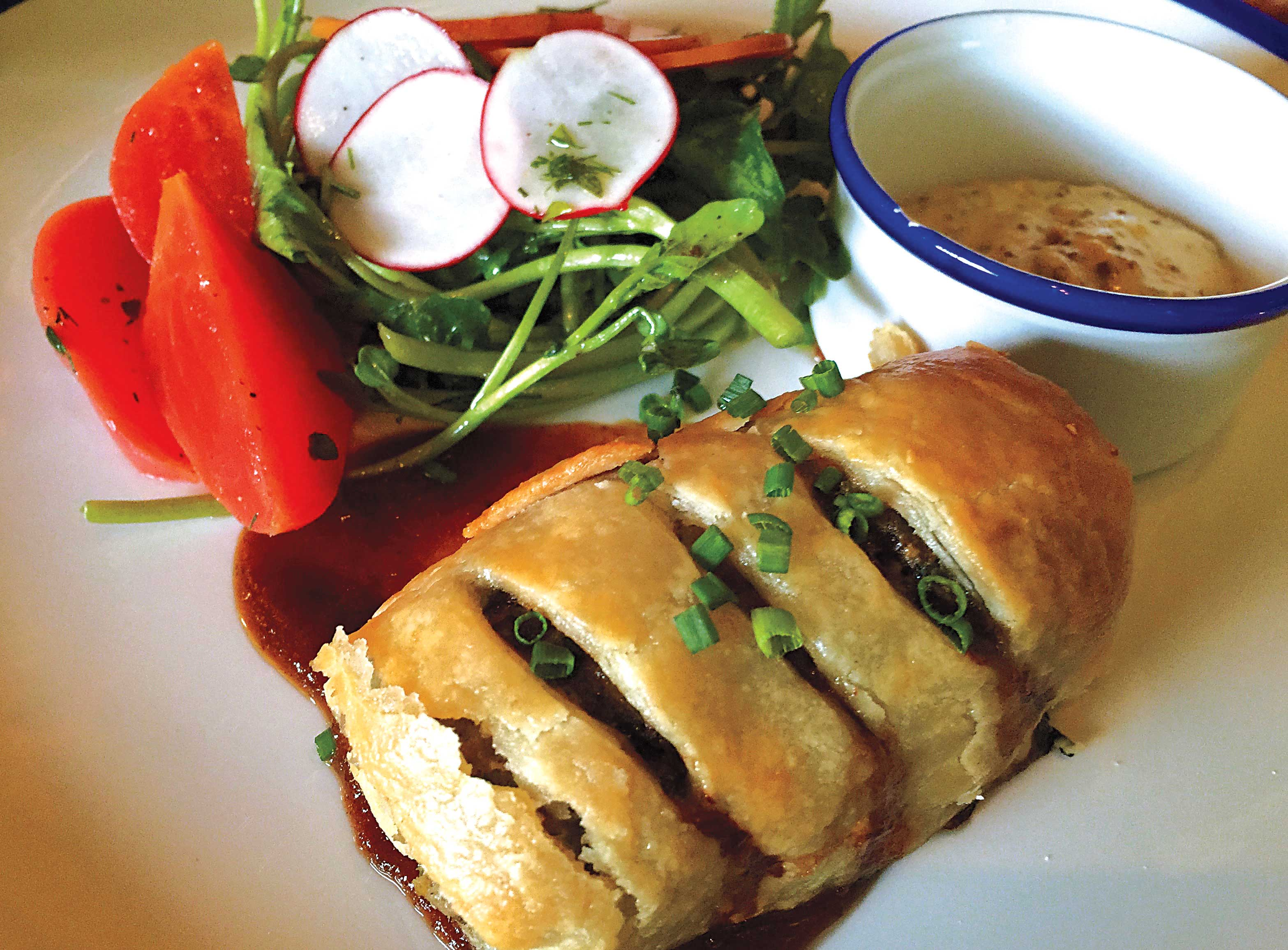 Oxtail sausage roll