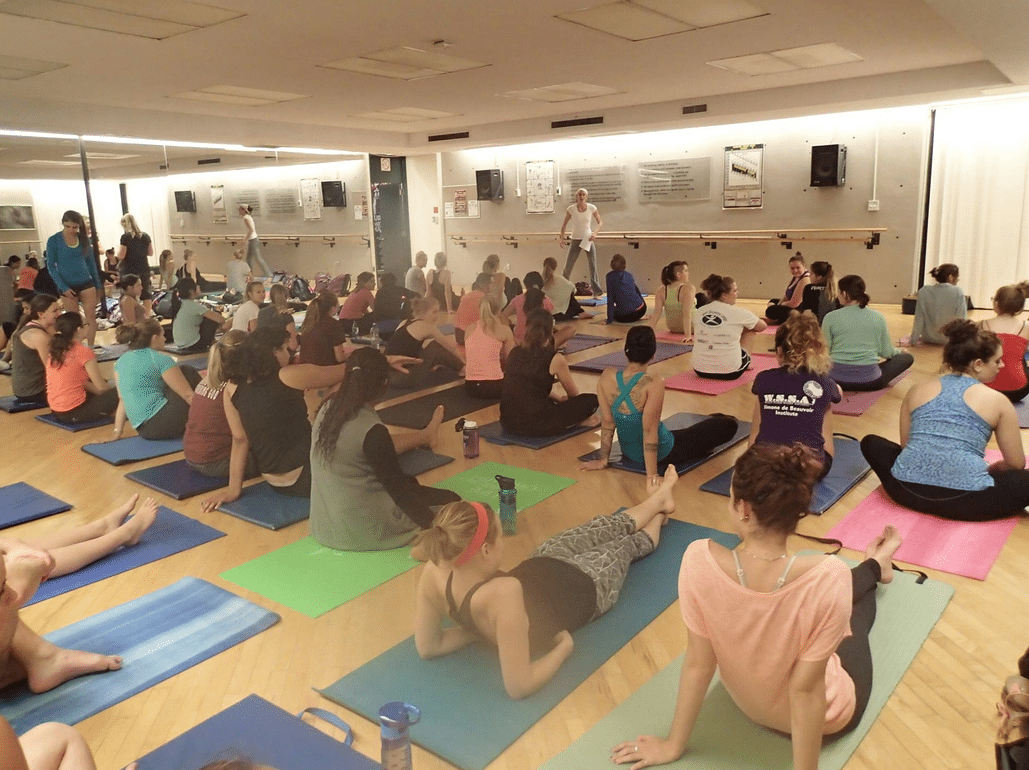 Jennifer Scharf taught yoga to dozens of students at the University of Ottawa.