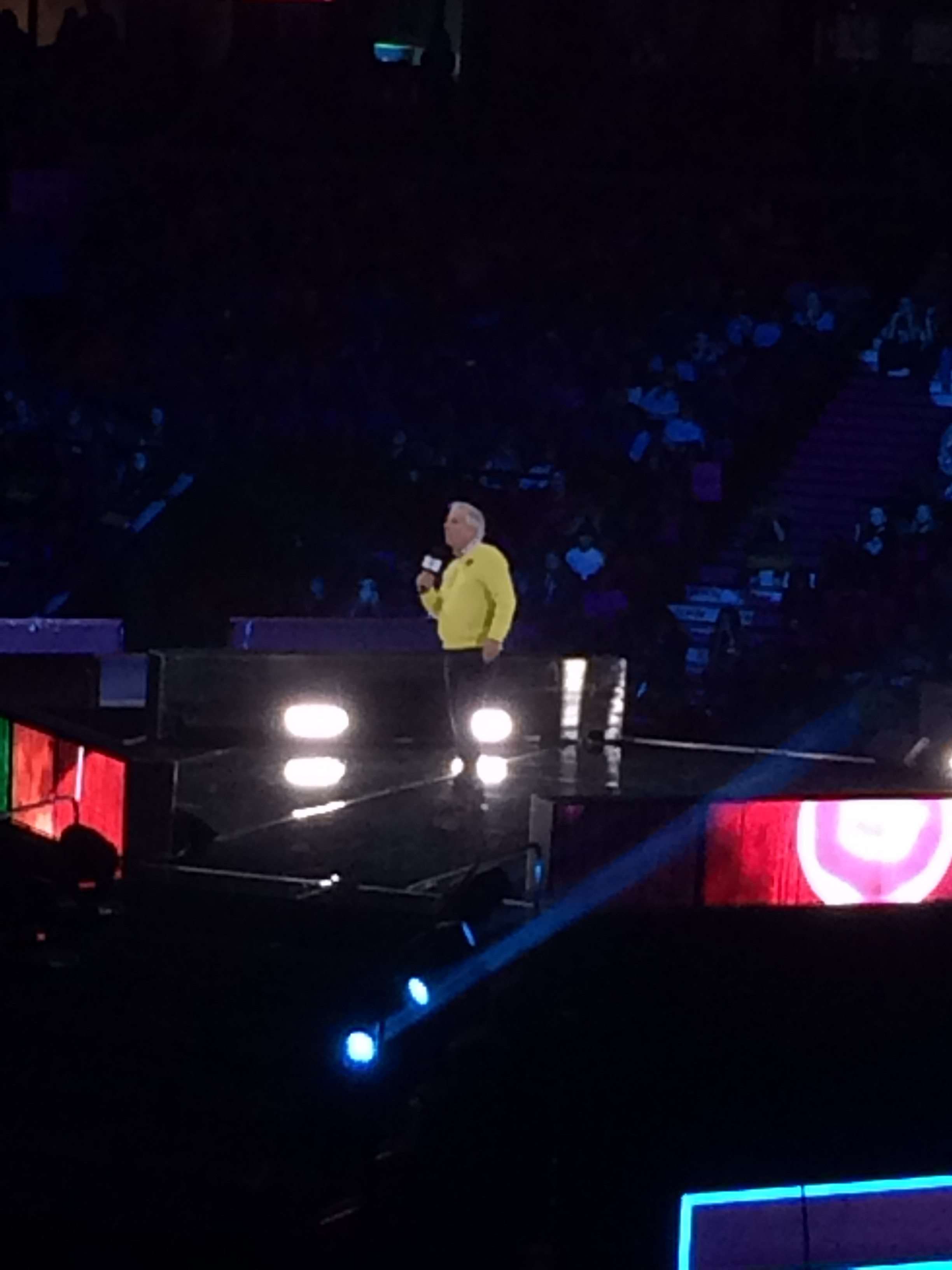 Actor Henry Winkler, better known to many as The Fonz from the television series Happy Days, takes the stage at WE Day. Photo by Leah Eustace, Ottawa Magazine.