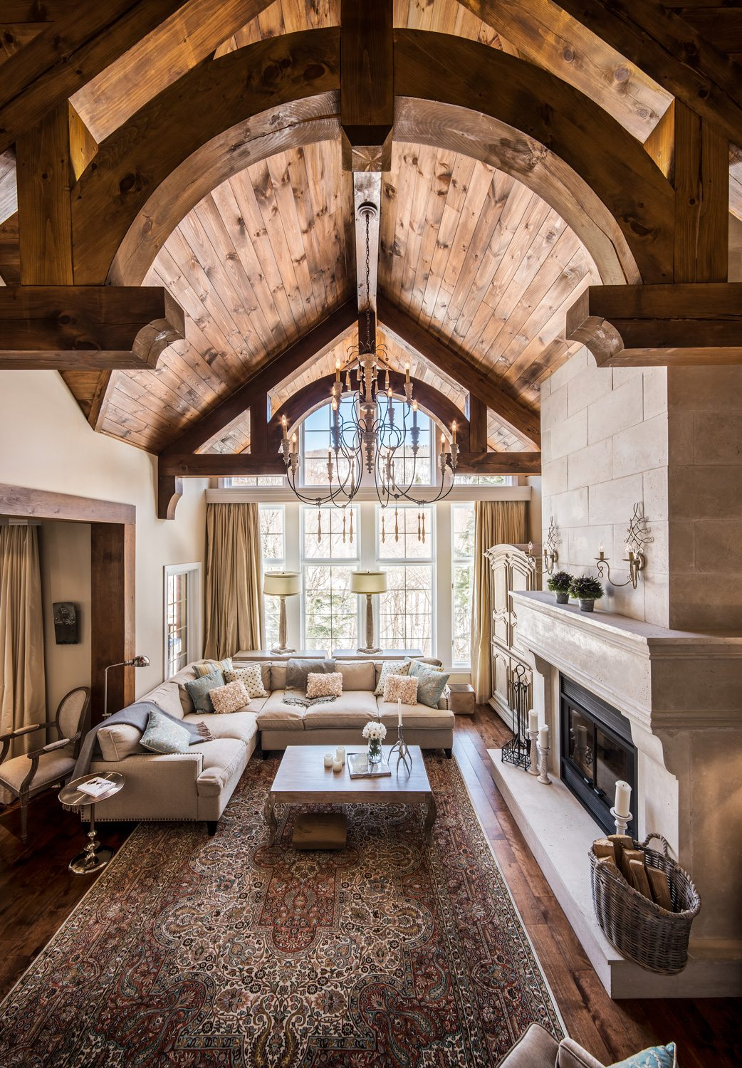 A Ski Chalet In Mont Tremblant Imbued With European Flair