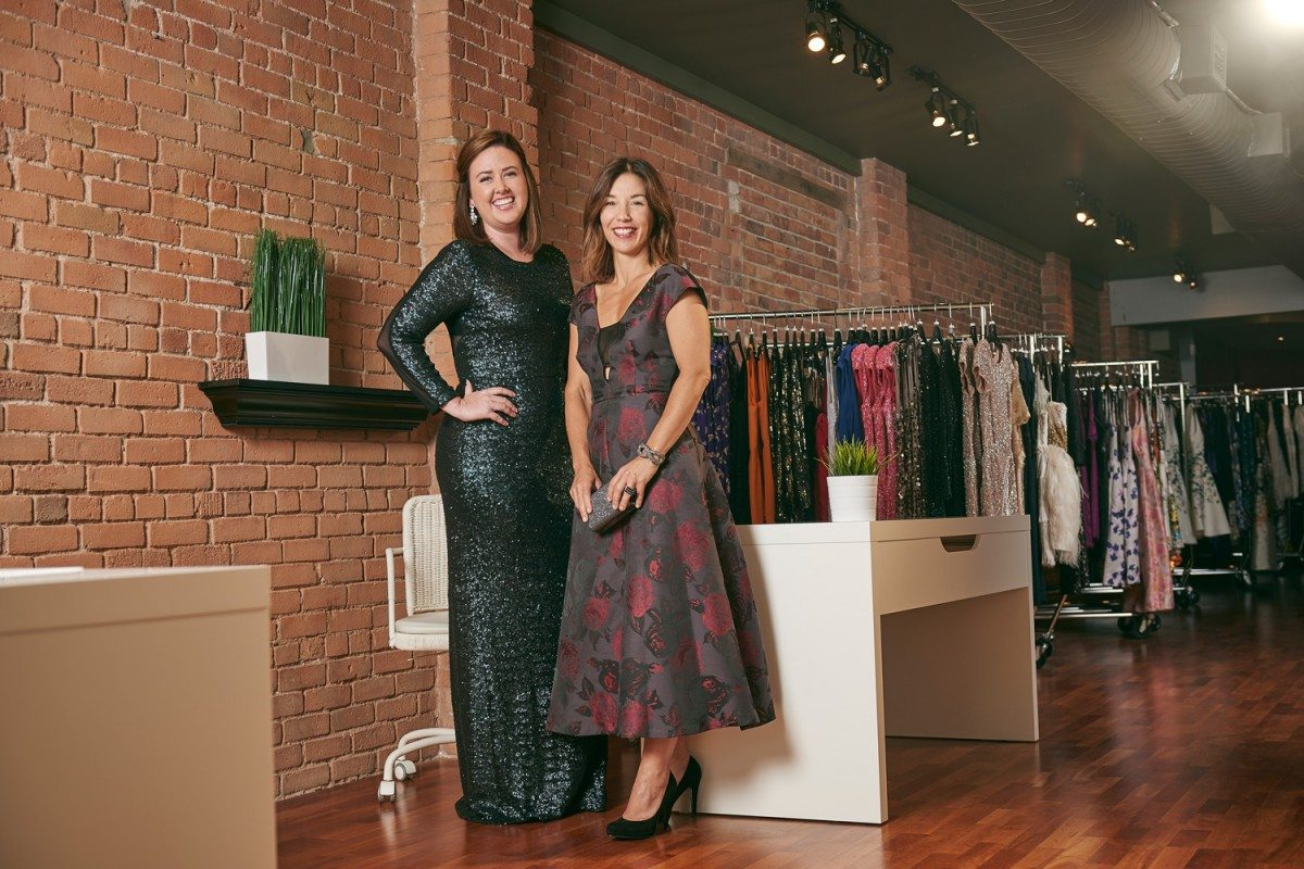 (Left) Rachael Regimbald and Lisa Delorme of Rent Frock Repeat in their ByWard boutique. Photo: Jessica Deeks