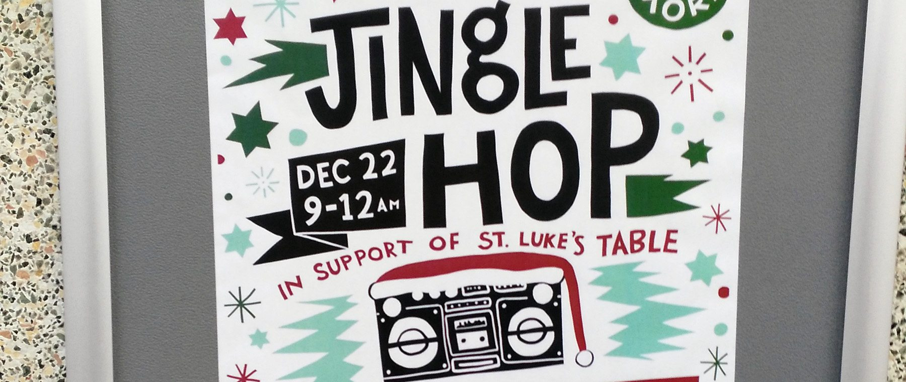 HEADS UP – Jingle Hop at the Tavern for St. Lukes Table