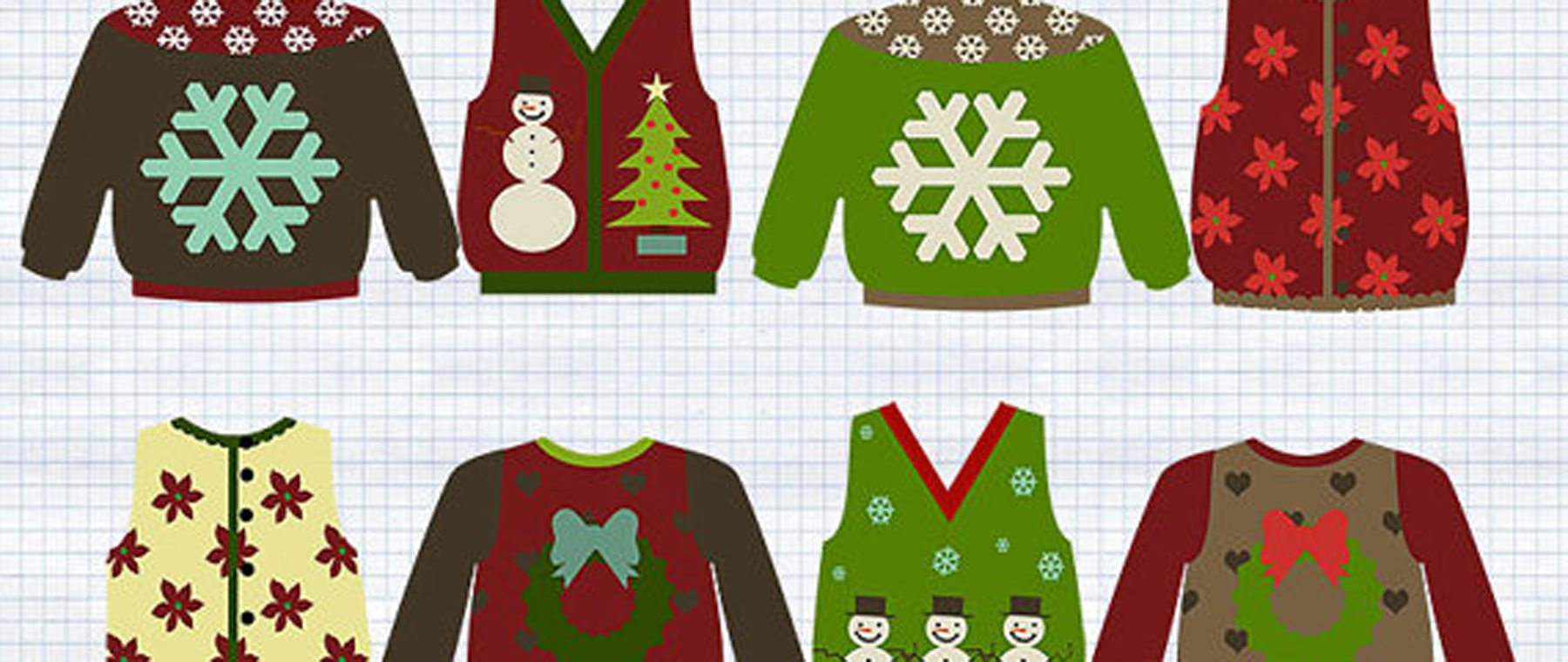HEADS UP – Ugly Xmas sweater judging, vintage swag, & coffee house in support of local non-profit