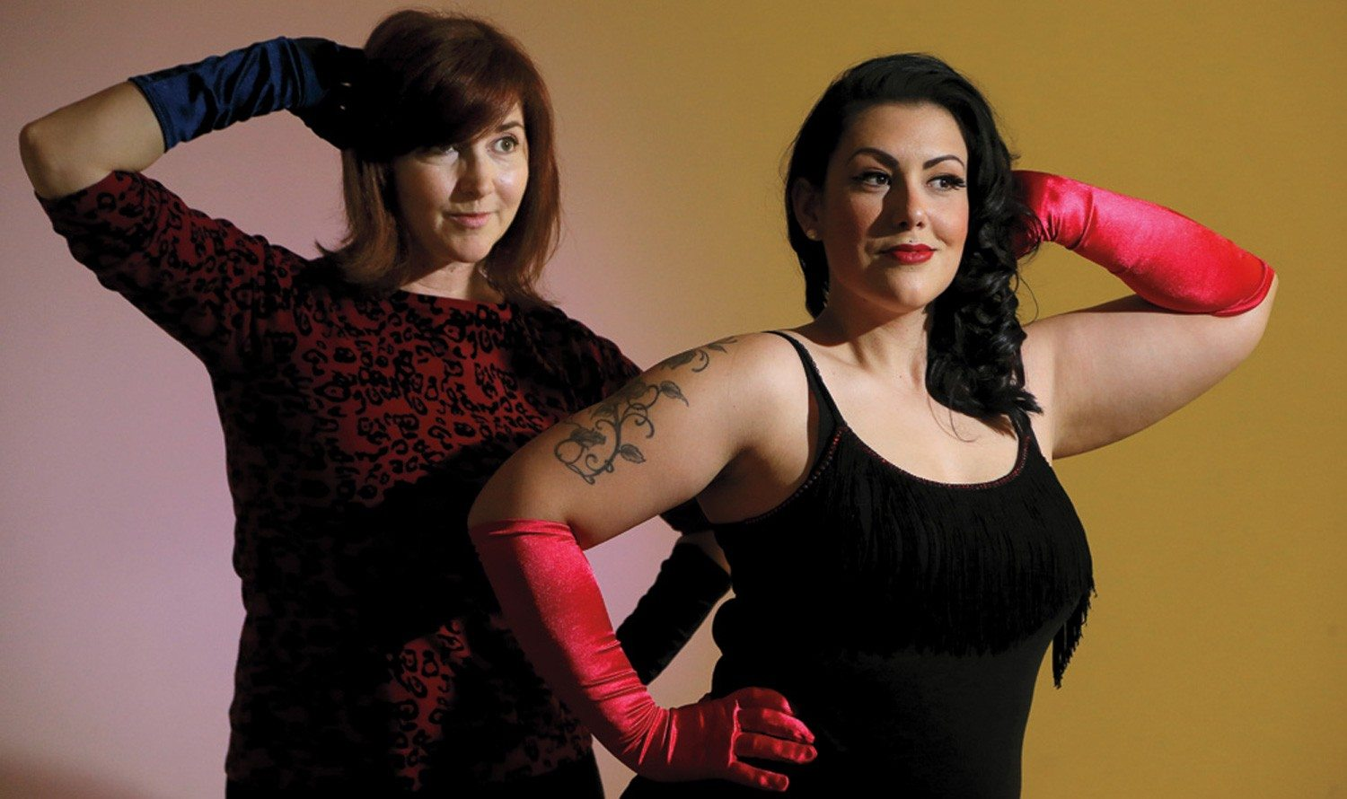 Vintage burlesque star teaches bump, grind, shimmy and shake at community centre