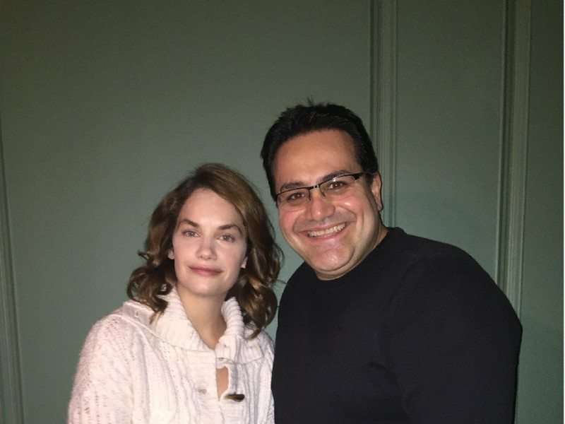 Actress Ruth Wilson and Ottawa producer Al Ghossein on set.