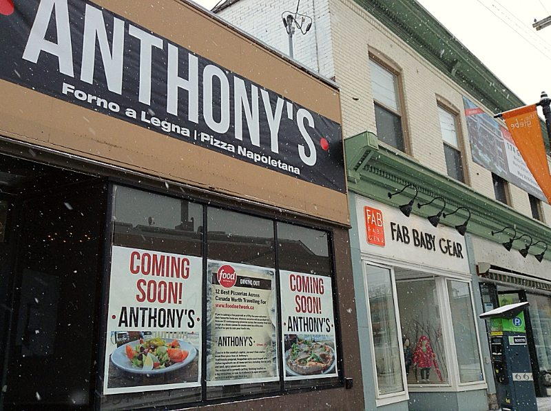 The formal sign is not yet in place, but the interiors are shaping up and the opening of Anthony's is just days away.