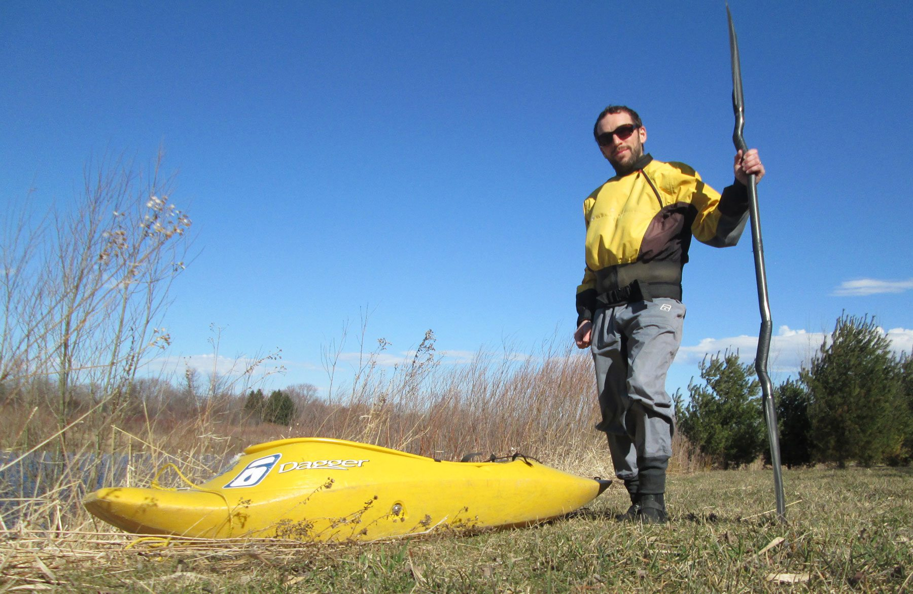 The fearless Dan Rubinstein and his kayak. Photo: Dan Rubinstein