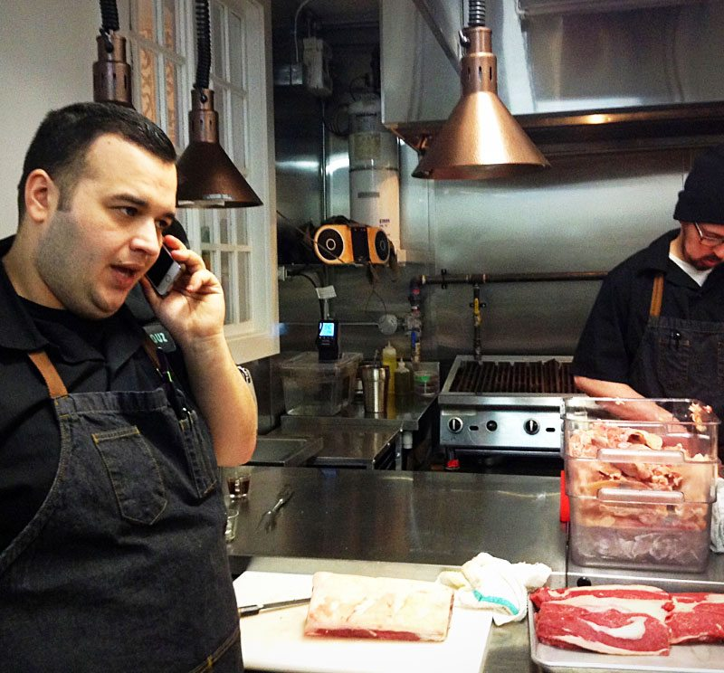 In the days ahead of the grand opening, Executive Chef Walid El-Tawel (at left) and his team are busy finalizing recipes and last-minute details